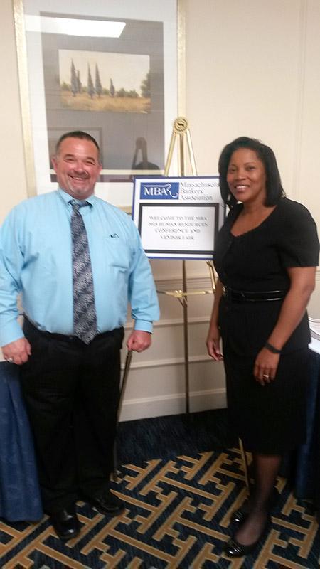Carl Maccario and Tanya Duncan, Training Coordinator, Massachusetts Banking Association
